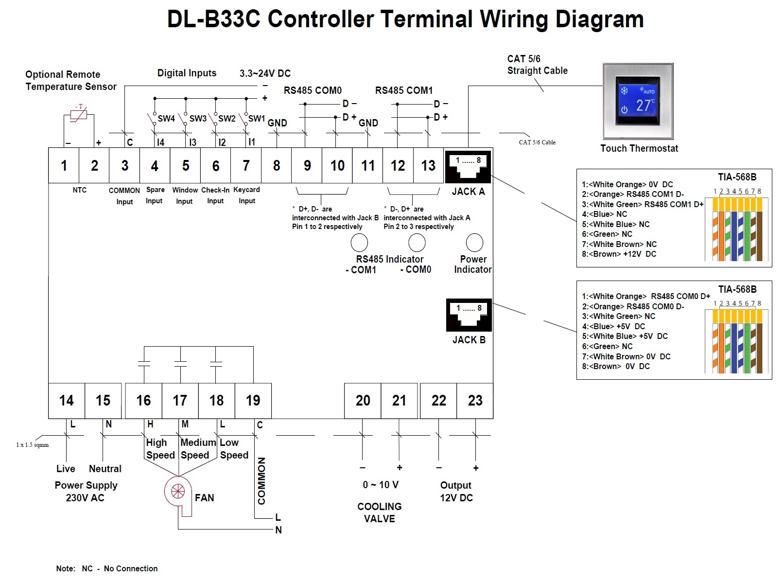 DL-B33C Wiring Diagram